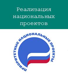 Баннер-ссылка на информацию по реализации национальных проектов в Ковдорском районе